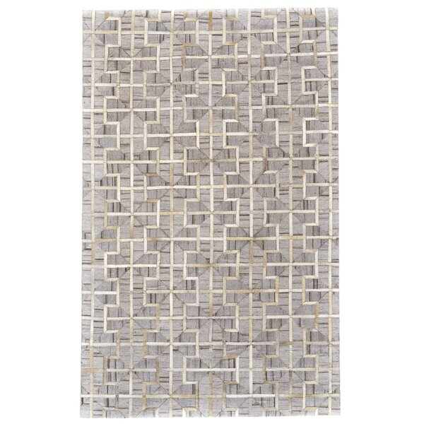 Grossi Hand-Woven Ivory/Sand Area Rug by Wrought Studio