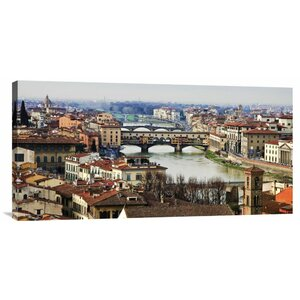 'Ponte Vecchio, Florence' by Vadim Ratsenskiy Photographic Print on Wrapped Canvas by Global Gallery