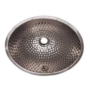 Bargain Decorative Metal Oval Undermount Bathroom Sink with Overflow By Whitehaus Collection