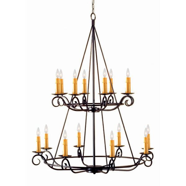 Estrella 16-Light Candle Style Tiered Chandelier by 2nd Ave Design 2nd Ave Design