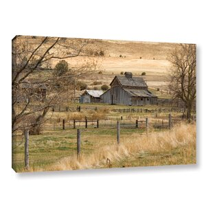 Roadside Barn Photographic Print on Gallery Wrapped Canvas by August Grove