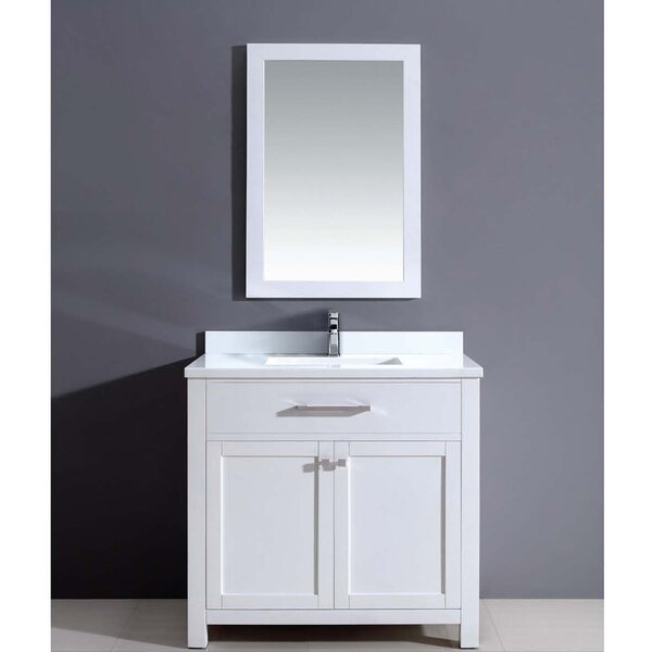 Milan 36 Single Vanity Set with Mirror by Dawn USA