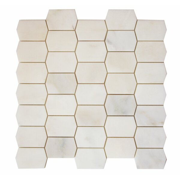 Marble Mosaic Tile in Calacatta Oro by Ephesus Stones