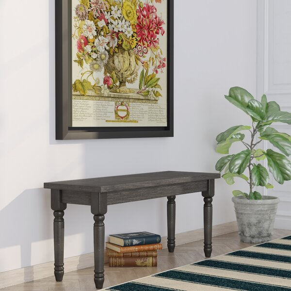 Isadore Wood Bench by Charlton Home