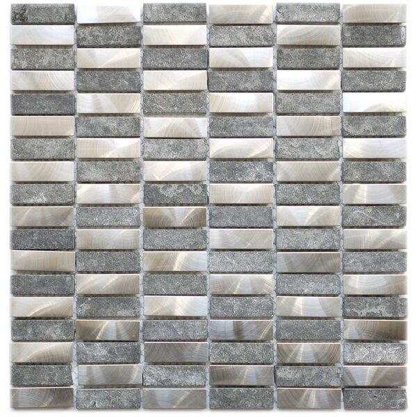 Basalt 12 x 11.8 Metal Mosaic Tile in Gray by Eden Mosaic Tile