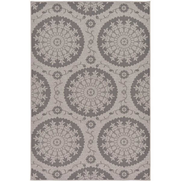 Forbes Gray Outdoor Area Rug by Charlton Home