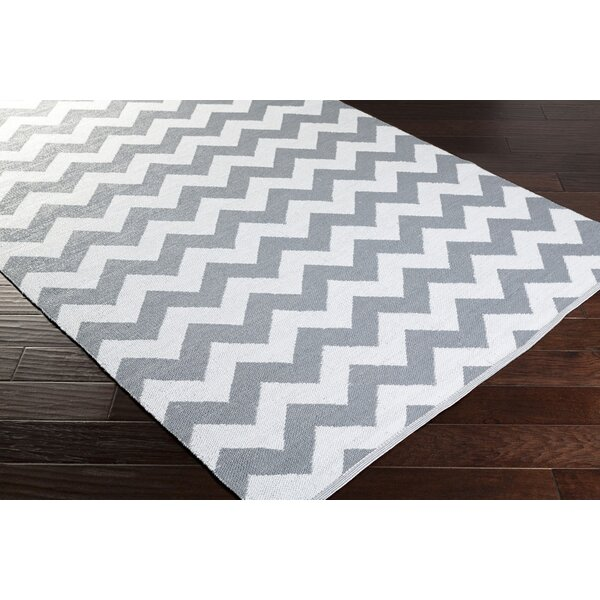 Lorene Hand-Woven Medium Gray/White Outdoor Area Rug by Zipcode Design