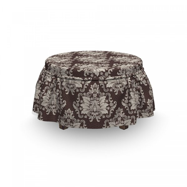 Victorian Blooming Foliage Ottoman Slipcover (Set Of 2) By East Urban Home