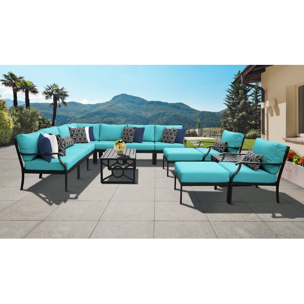 Madison Ave. 13 Piece Sectional Seating Group with Cushions by Darby Home Co