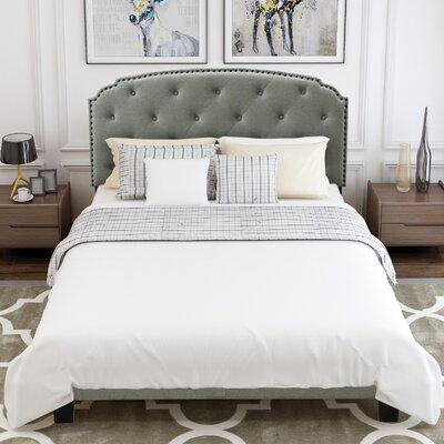 Red Barrel Studio Penington Queen Upholstered Low Profile Sleigh Bed