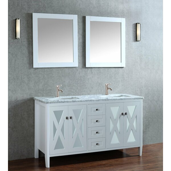Denker 60 Double Bathroom Vanity Set with Mirror by Brayden Studio