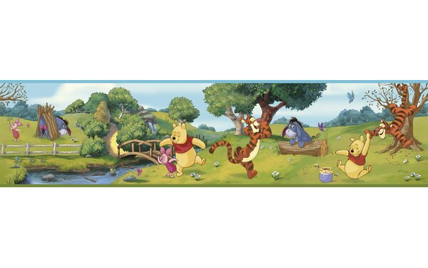 Walt Disney Kids II Swinging Pooh 9 Border Wallpaper by York Wallcoverings