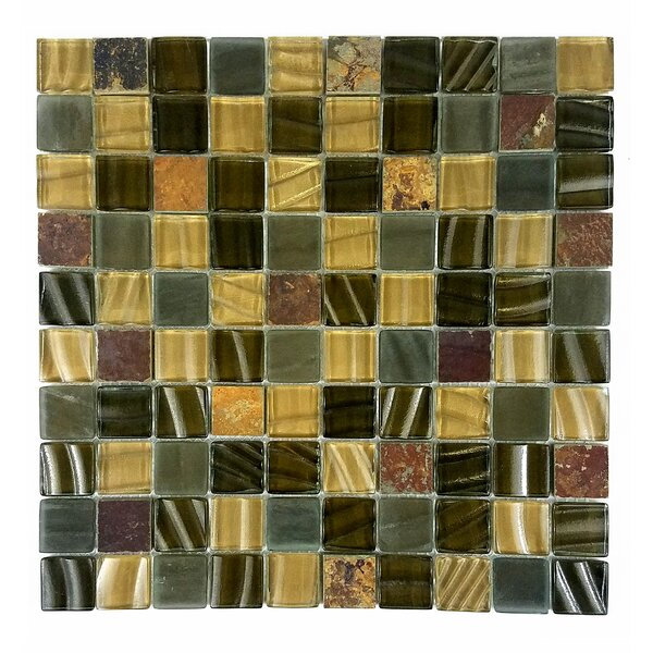 New Era II 1.25 x 1.25 Glass Mosaic Tile in Light Brown by Abolos