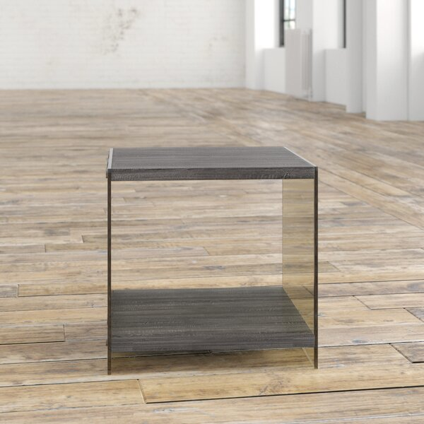 Lassiter Sled End Table With Storage By Mercury Row