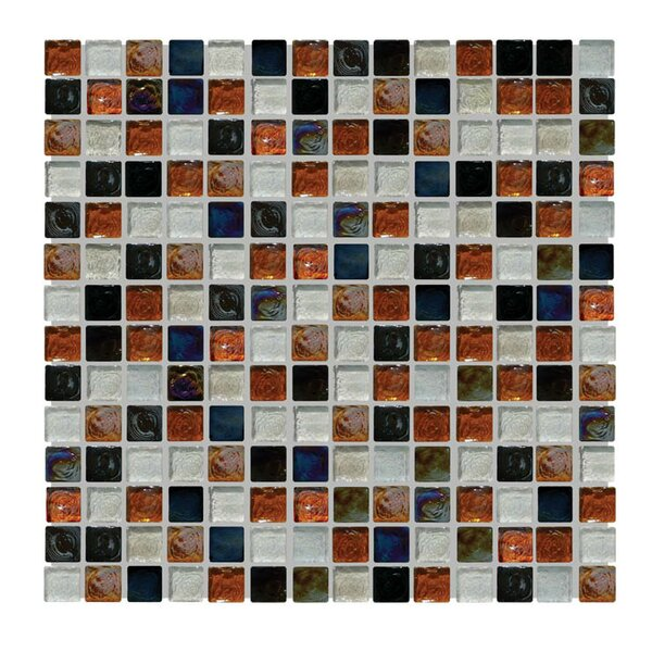 Glass Mosaic Tile in Brown/White by QDI Surfaces