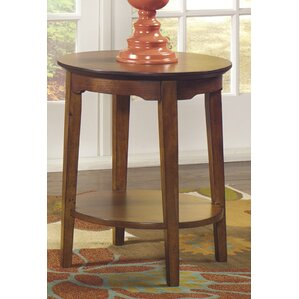 Waynesville Round End Table by Red Barrel St..