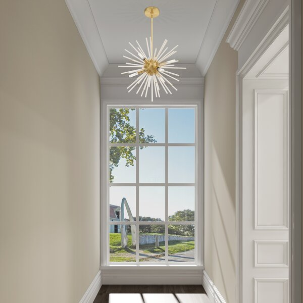 Suismon 6 - Light Sputnik Sphere Chandelier With Crystal Accents By Wrought Studio