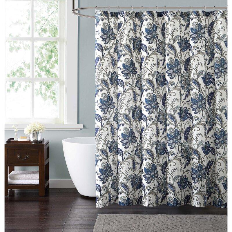 Red Barrel Studio Wali Floral Shower Curtain | Wayfair