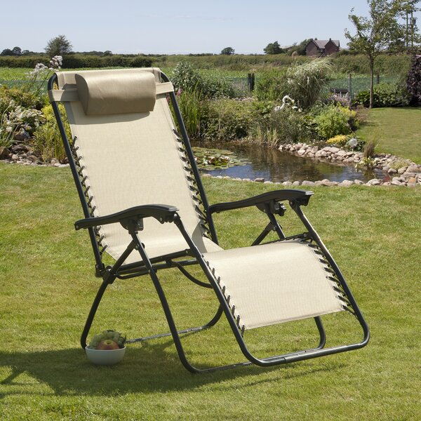Ellendale Reclining Zero Gravity Chair with Cushion by Latitude Run Latitude Run