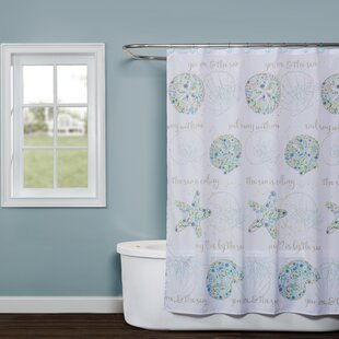Compare prices Jaylyn Fabric Shower Curtain ByHighland Dunes