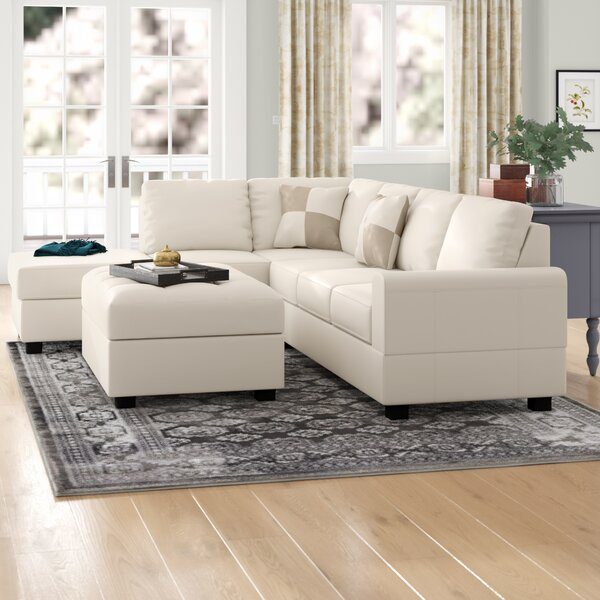 Meece Reversible Sectional With Ottoman By Andover Mills