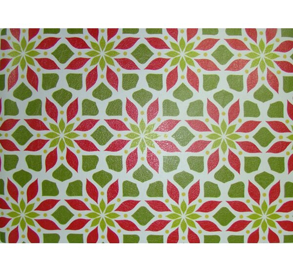 Poinsettia Rectangle Placemat (Set of 4) by Dasco