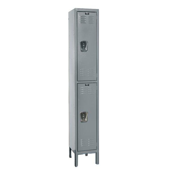 Premium 2 Tier 1 Wide School Locker by Hallowell