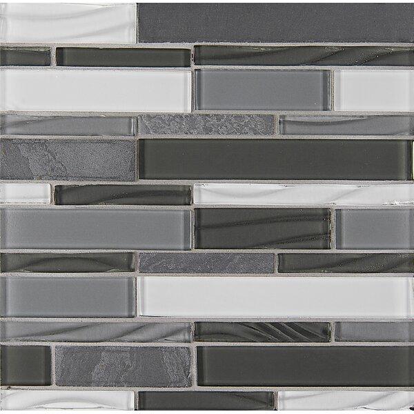 Queenstown 12 x 12 Stone Mosaic Linear Tile in Ashton by Grayson Martin