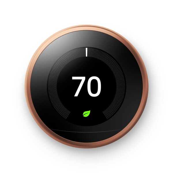 Google Nest Copper Wi-Fi Enabled Thermostat By Google Nest