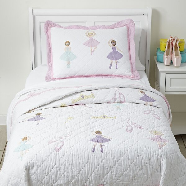 Pirouette Cotton Quilt Set By Birch Lane Kids.
