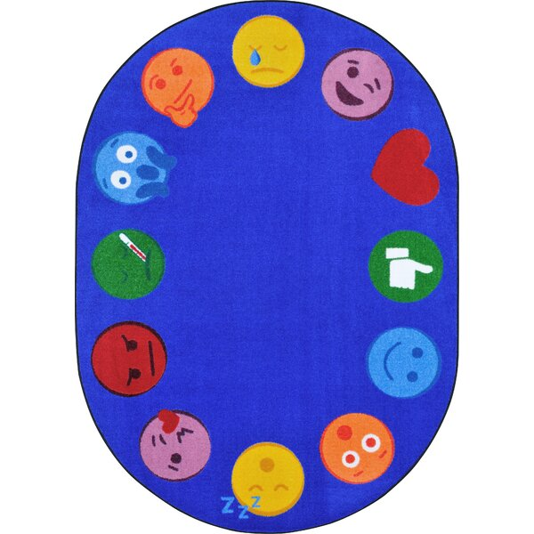 Emoji Edge Blue Area Rug by Joy Carpets
