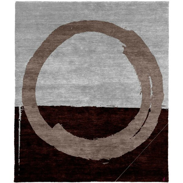One-of-a-Kind Sasheer Hand-Knotted Tibetan Gray/Brown 10' Square Wool Area Rug