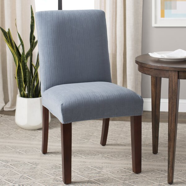 Stretch Pinstripe Box Cushion Dining Chair Slipcover By Sure Fit