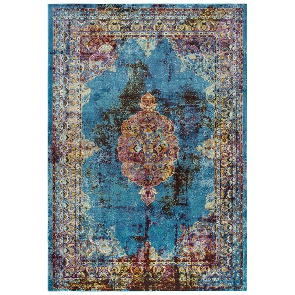Elliot Blue/Brown Area Rug by Bungalow Rose