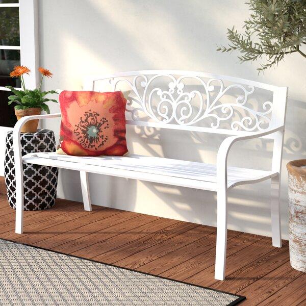 Carennac Scroll Backrest Iron Garden Bench By Fleur De Lis Living