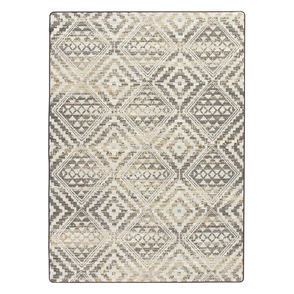 Tate Soft Gold Area Rug by Bungalow Rose