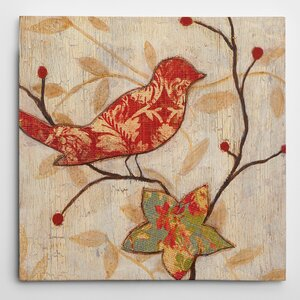 Premium 'Song Bird I Revisited' by Eugene Tava Painting Print on Wrapped Canvas by Wexford Home