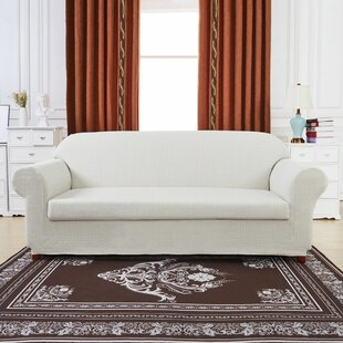 Windmill Jacquard Box Cushion Loveseat Slipcover