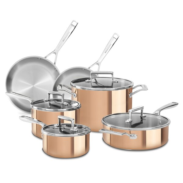 10 Piece Tri Ply Cookware Set by KitchenAid