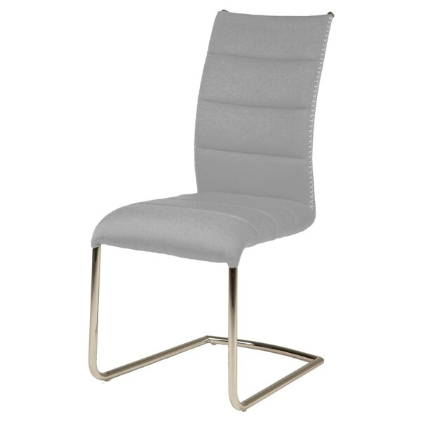 Art Unique Stitch Accent Metal Upholstered Dining Chair (Set of 2) by Orren Ellis