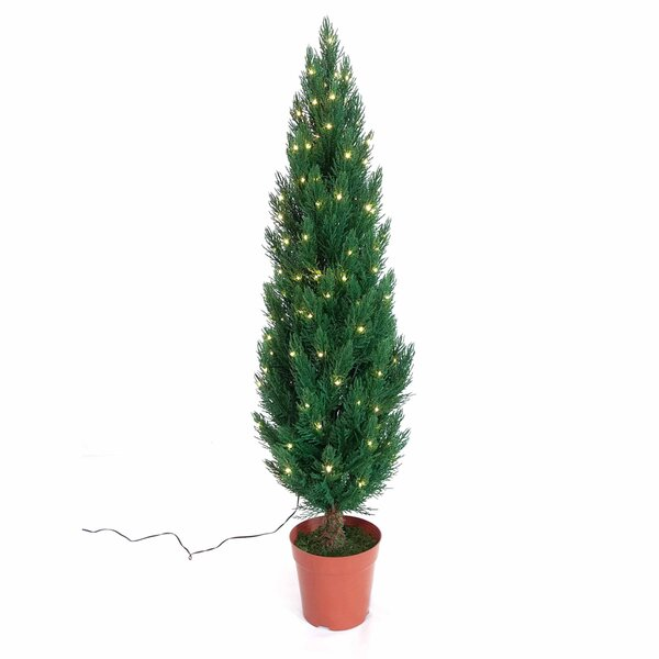 36 Pre-Lit Cypress Artificial Christmas Tree with 135 White LED Lights by Kurt Adler