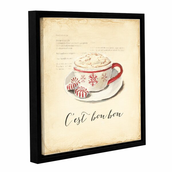 C Est Bon Bon Framed Painting Print on Wrapped Can