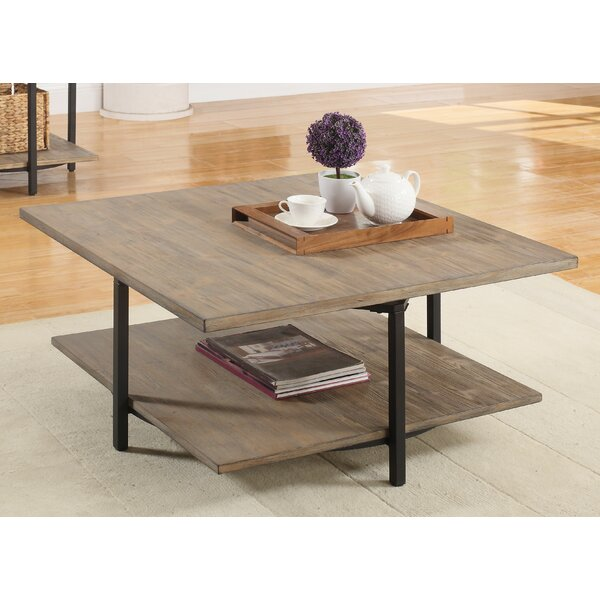 Mcquiston Coffee Table with Magazine Rack by Mercury Row