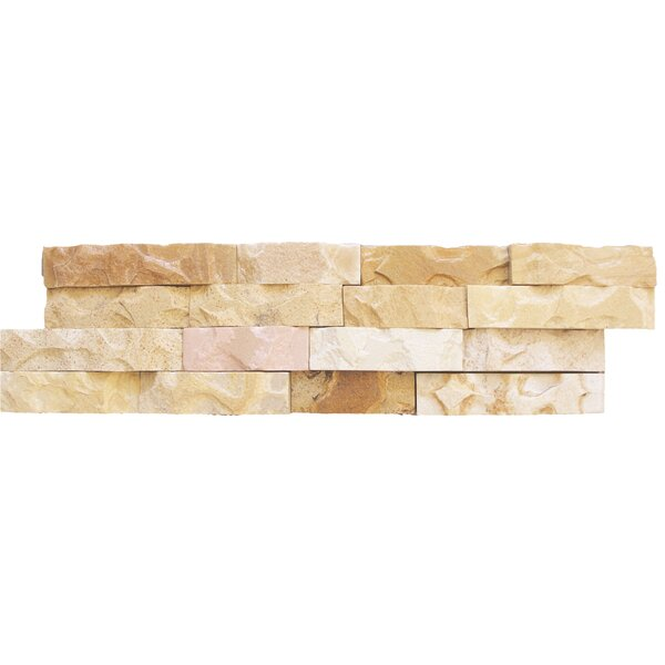 6 x 24 Sandstone Splitface Tile in Beige by MSI