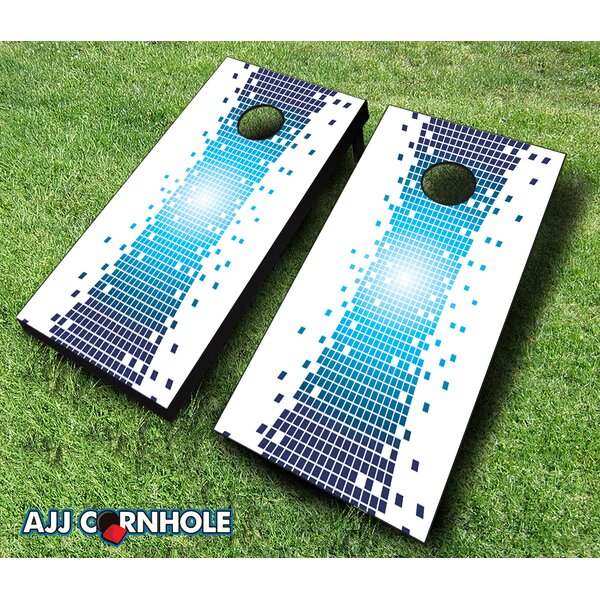 Pixel Warp Cornhole Set by AJJ Cornhole