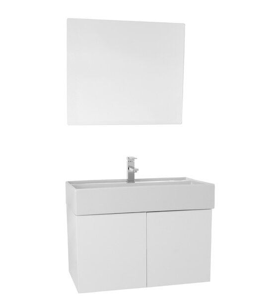 Smile 31 Single Bathroom Vanity Set with Mirror by Nameeks Vanities