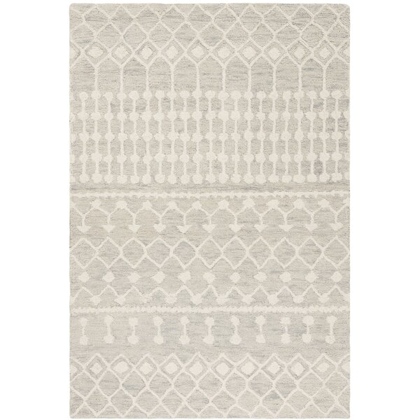 Phyllis Forrest Hand-Tufted Wool Gray/Ivory Area Rug by Greyleigh