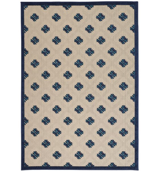 Gatti Blue Indoor/Outdoor Area Rug by Wrought Studio