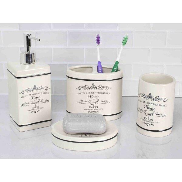 Paris 4-Piece Bathroom Accessory Set by Home Basics
