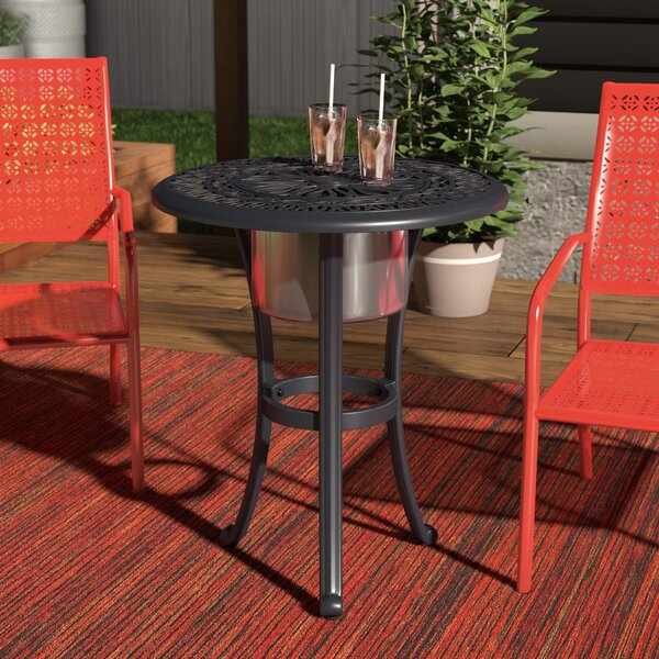 Beaufort Aluminum Bistro Table by World Menagerie